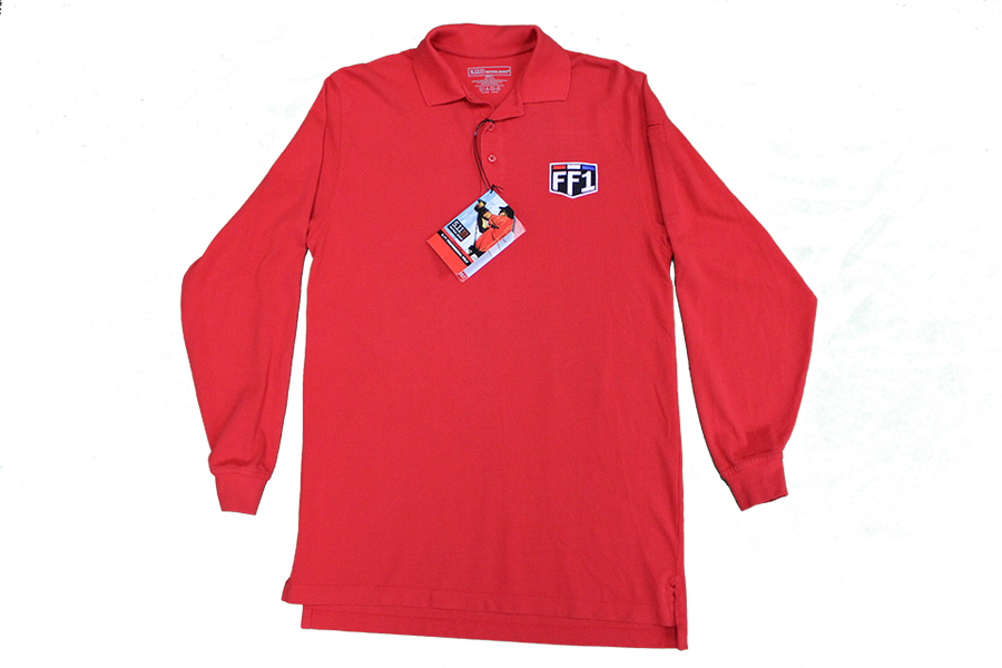 FF1 Red Long Sleeve Polo