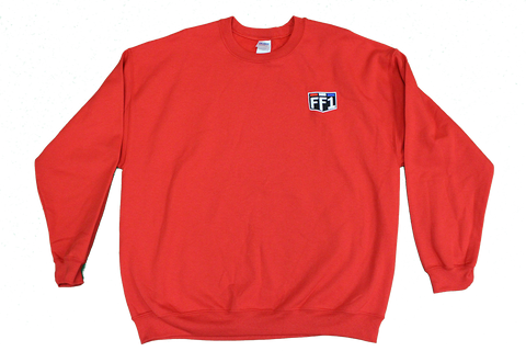 FF1 Red Embroidered Shield Crew Sweatshirt