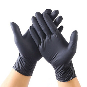 Nitrile Gloves - 100/Box (Black/Size XL)