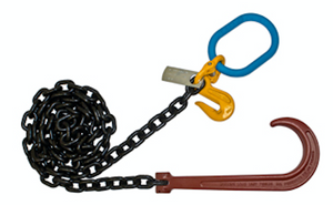 "Chain with 15"" J Hook; Grab Hook & Master Link"