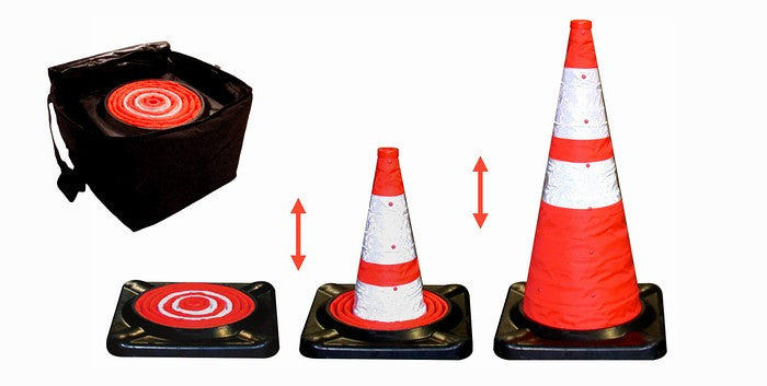 "28"" Collapsible Cone Kit 5-Pack with Storage Bag"