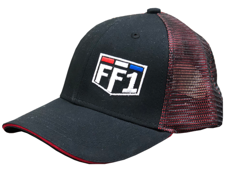 FF1 Black/Red Double Mesh Snapback Hat
