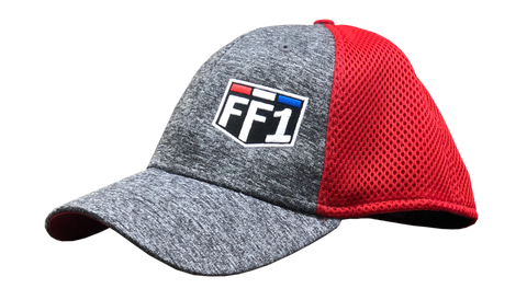 FF1 Heather Gray/Red Hat