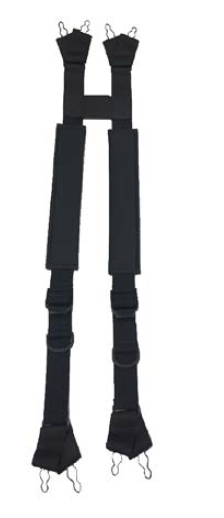 Post Suspenders H-Back with Padding and Ladder Lock Buckle