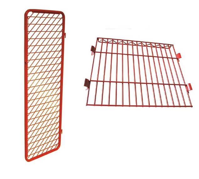 Security Option for Double Sided Free Standing Red Rack