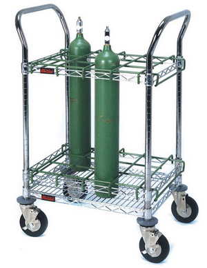 EMS Oxygen/Universal Bottle Cart