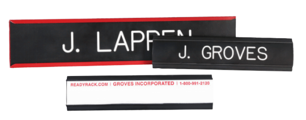 Label Holder/Name Plate
