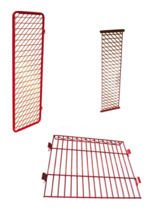 Security Option for Singled Sided Red Rack Freestanding Lockers
