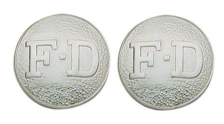 F.D. Letters Closed Collar Pin - Pair
