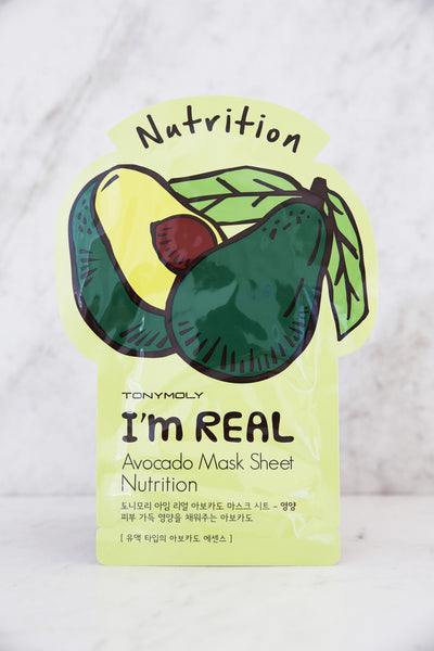 I'm Real Avocado Mask Sheet - Nutrition - Keauty Picks