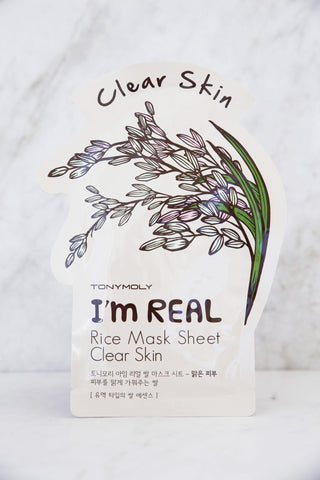 I'm Real Rice Mask Sheet - Clear Skin - Keauty Picks