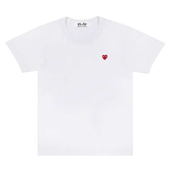 CDG PLAY TINY RED HEART TEE – WHITE MEN*
