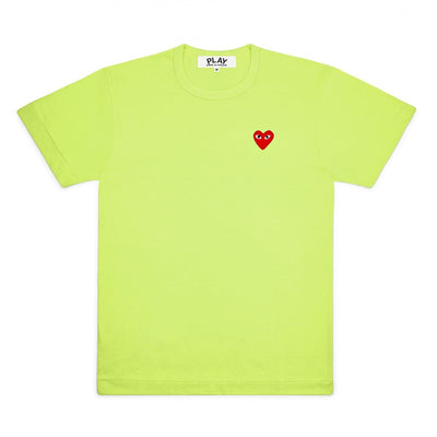 CDG PLAY SMALL RED HEART TEE – GREEN+