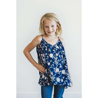 April Cami Flare Top - Navy Floral,Top,LeleGray.com