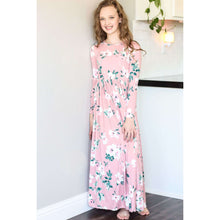 Load image into Gallery viewer, Ashley Long Sleeve Maxi Dress - Mauve Floral,Dress,LeleGray.com