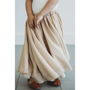 Aurora Maxi  Skirt - Champagne,bottoms,LeleGray.com