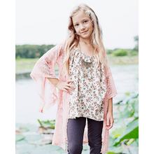 Load image into Gallery viewer, Charity Lace Bell Sleeve Cardigan - Peach Size 16,Cardigan,LeleGray.com