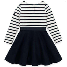 Load image into Gallery viewer, Charlotte Long Sleeve Striped Flare Dress - Navy,dress,LeleGray.com