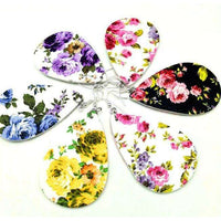 Floral Design Leather Earrings - Color Variety,Jewelry,LeleGray.com