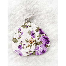 Load image into Gallery viewer, Floral Design Leather Earrings - Color Variety,Jewelry,LeleGray.com