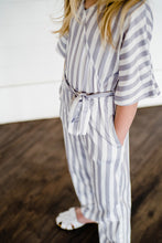 Load image into Gallery viewer, Cassidy V-Neck Jumpsuit - Gray & White Size 2t