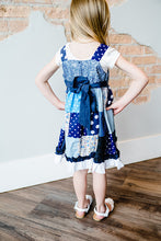 Load image into Gallery viewer, Primrose Patchwork Jumper Dress - Blue