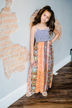 Load image into Gallery viewer, Jasmine Striped and Floral Maxi Dress