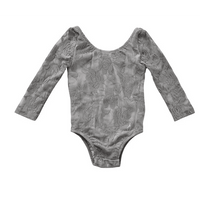 Lace Leotard - Gray