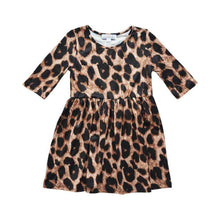 Load image into Gallery viewer, Leopard Pleated Dress,Dress,LeleGray.com
