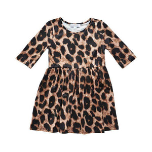 Leopard Pleated Dress,Dress,LeleGray.com