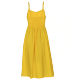 Marley Bohemian Front Button Dress with Pockets - Yellow,Womens Dresses,LeleGray.com
