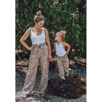 Mommy and Me Bethany Palazzo Pants - Khaki Floral