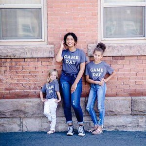 NEW Game Day Graphic Tee - Mom & Me,womens top,LeleGray.com