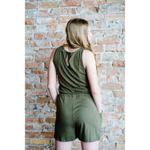 Load image into Gallery viewer, NEW Joy Sleeveless Shorts Romper - Wine,Womens Romper,LeleGray.com