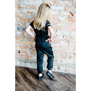 New Mommy and Me V-Neck Jumpsuit - Black,Womens Romper,LeleGray.com