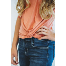 Load image into Gallery viewer, Nichole Twist Top - Coral,top,LeleGray.com