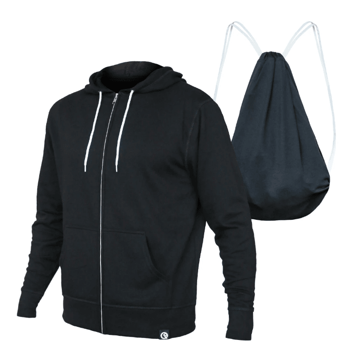 Pre-Order Unisex Lightweight Jacket to Bag Quikflip - Black,top,LeleGray.com