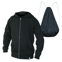Load image into Gallery viewer, Pre-Order Youth Unisex Lightweight Jacket to Bag Quikflip - Black,top,LeleGray.com