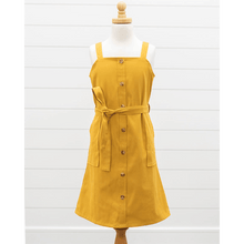 Load image into Gallery viewer, Sawyer Button Front Mini Dress - Mustard,dress,LeleGray.com