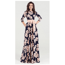 Load image into Gallery viewer, Scarlett Floral Print Elegant Long Dress - Pink Floral,Medium,Womens Dresses,LeleGray.com