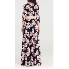 Load image into Gallery viewer, Scarlett Floral Print Elegant Long Dress - Pink Floral,Womens Dresses,LeleGray.com