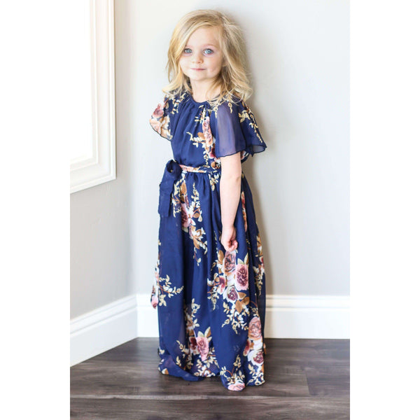 Stella Maxi Dress - Navy Floral