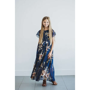 Stella Maxi Dress - Navy Floral,Dress,LeleGray.com