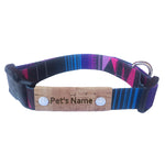 Geometric Purple Personalized Dog Collar