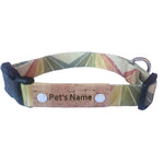 Geometric Tan Personalized Dog Collar
