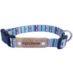 Geometric White Personalized Dog Collar