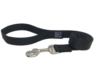 Basic Black Logo Leash