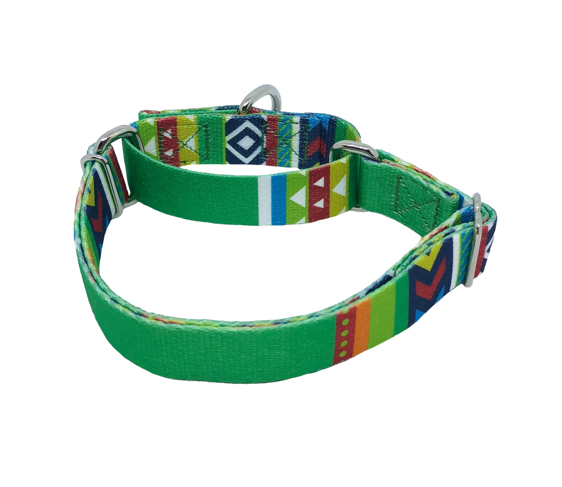 Green Blazer Martingale Dog Collar
