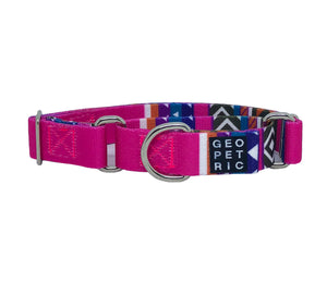 Pink Blazer Martingale Dog Collar