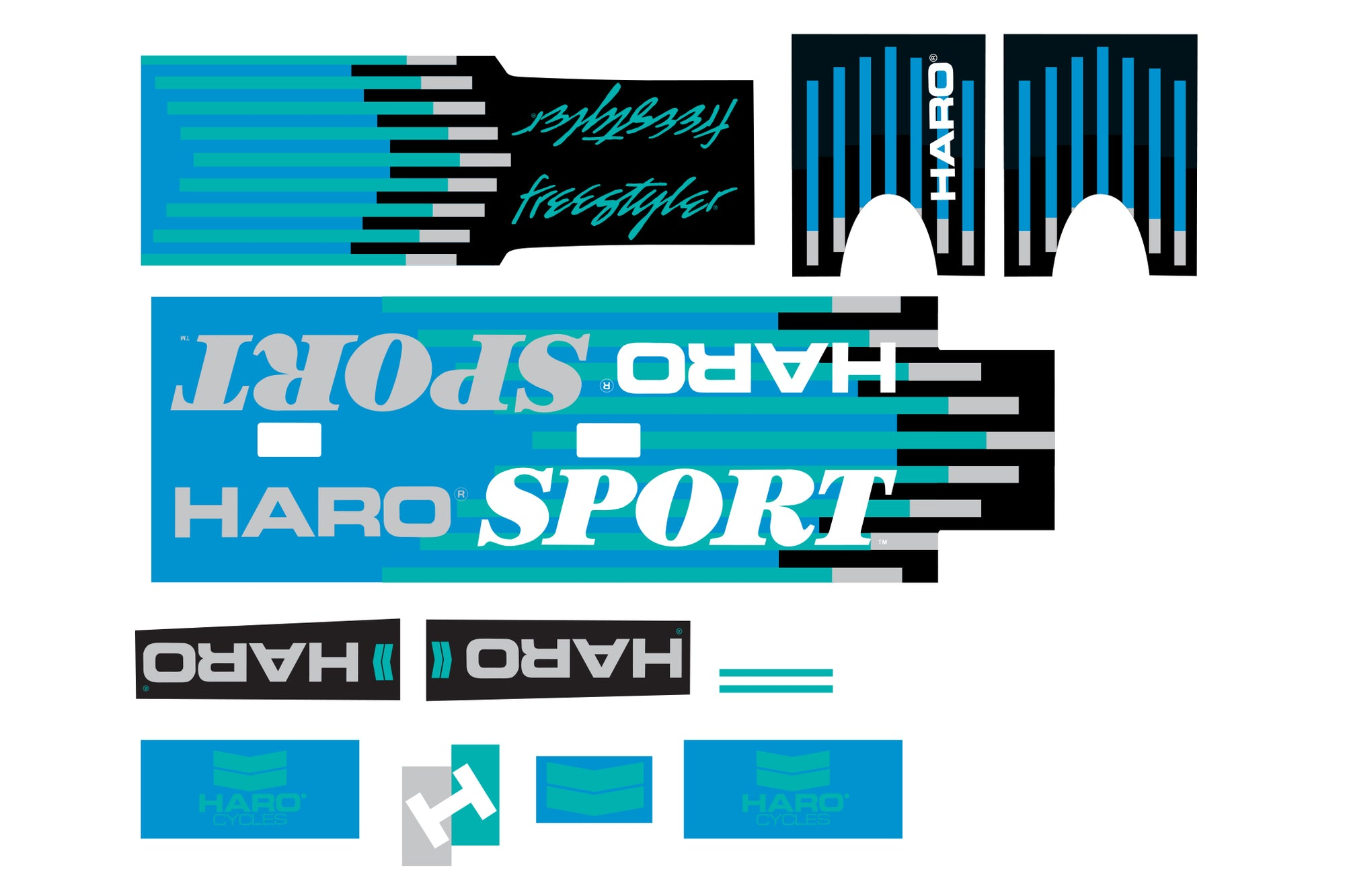 1988 Decals Sport Black/Blue